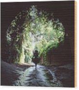 Tunnel Walk Wood Print
