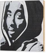Tupac Wood Print by Michael Ringwalt