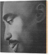 Tupac Rose Wood Print