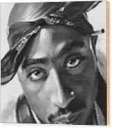 Tupac Shakur Wood Print
