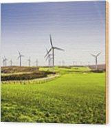 Turbine Fields Wood Print