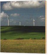 Turbines At Goonhaven Wood Print