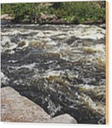 Turbulent Dalles Rapids Wood Print