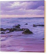 Turbulent Daybreak Seascape Wood Print