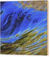 Turbulent Fall Reflections Wood Print