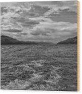 Turbulent Loch Ness In Monochrome 2 Wood Print