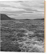 Turbulent Loch Ness In Monochrome Wood Print