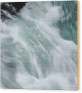 Turbulent Seas Wood Print