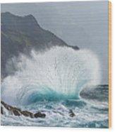 Turbulent Shore Wood Print