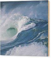 Turbulent Shorebreak Wood Print