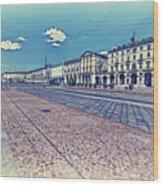 Turin, Square Vittorio. Wood Print
