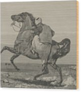 Turk Mounting His Horse Wood Print