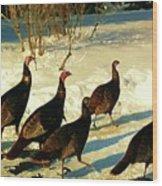 Turkey Call Wood Print