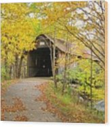 Turkey Jim's Covered Bridge Wood Print