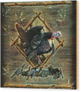 Turkey Lodge Wood Print