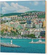 Turkey Port City Wood Print