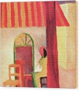 Turkish Cafe By August Macke Wood Print
