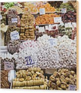 Turkish Delight In Istanbul Wood Print