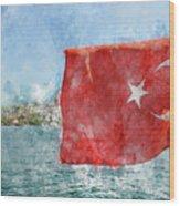Turkish Flag Wood Print