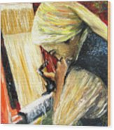 Turkish Weaver Wood Print
