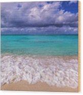 Turks And Caicos Beach Wood Print