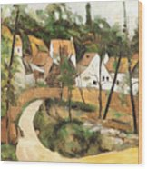 Turn In The Road Reproduction Of Cezannes Work. Wood Print