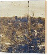 Turn Of The Century Dyckman Street Panorama Wood Print