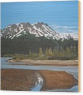 Turnagain Arm Alaska Wood Print