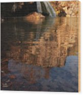 Turner Falls Autumn Reflections Wood Print
