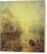 Turner Joseph Mallord William Ancient Italy Ovid Banished From Rome Joseph Mallord William Turner Wood Print