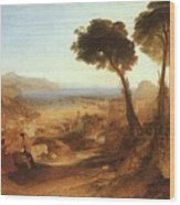 Turner Joseph The Bay Of Baiae With Apollo And The Sibyl Joseph Mallord William Turner Wood Print