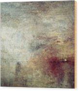 Turner: Sun Setting, C1840 Wood Print