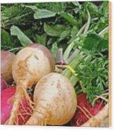 Turnips And Carrots Wood Print