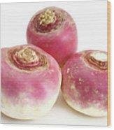 Turnips Wood Print