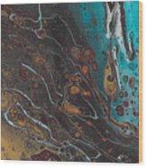 Turq's And Carnelian Wood Print