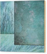 Turquoise Textures Wood Print