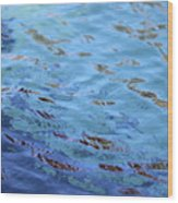 Turquoise And Blue Swirls Large Canvas Wood Print