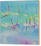 Turquoise Blue Wood Print