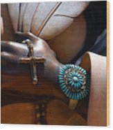 Turquoise Bracelet  Wood Print