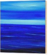 Turquoise Dawn Wood Print