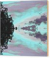 Turquoise Diamonds In The Sky Wood Print
