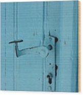 Turquoise Door 02 Wood Print