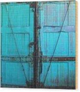 Turquoise Doors Wood Print