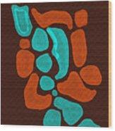 Turquoise Dreams Wood Print