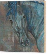 Turquoise Horse Wood Print
