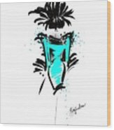 Turquoise In The City Wood Print