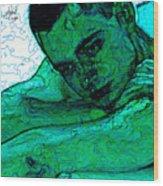 Turquoise Man Wood Print