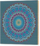 Turquoise Necklace Mandala Wood Print