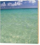 Turquoise Ocean Wood Print