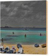 Turquoise Paradise Wood Print